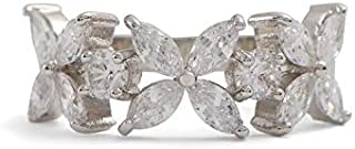 Aldo Promise Ring for Women, Inlaid With Crystals Stone, Size 10 EU