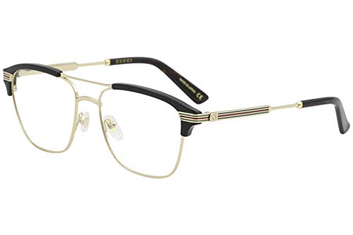 (グッチ) GUCCI グッチ ブラック×ゴールド メガネフレーム 眼鏡 GUC-GG-0241O-002