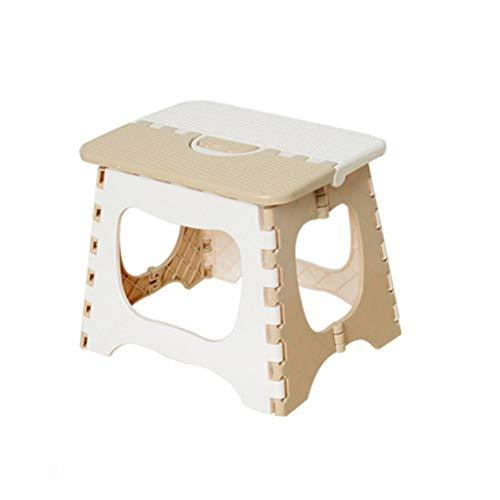 Silla plegable Taburete Plegable portátil plástico Grueso Mini Mesa doméstica Adecuada para Usar Dentro de 200 kg