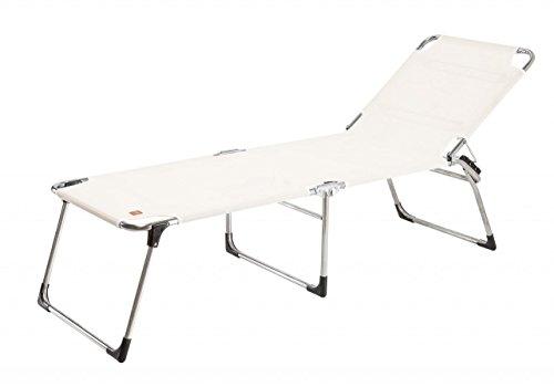 Jan Kurtz Amigo 40+ Tumbona, Aluminio, Blanco, 42 x 58 x 190