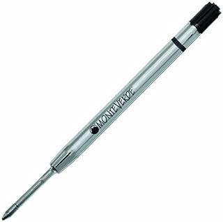 Monteverde Capless Gel Ballpoint Refill to Fit Parker Ballpoint Pens, Fine Point, Black, 2 per Pack (P422BK)