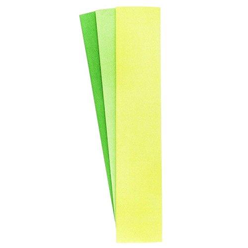 Krepp-Papiere, 50cm x 200cm, 3 Stück (hellgrün, gelbgrün, grasgrün)