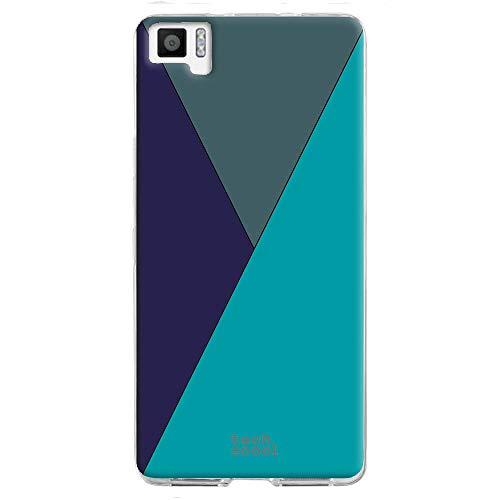 Funnytech® Funda Silicona para BQ Aquaris M5 [Gel Silicona Flexible, Diseño Exclusivo] Geometrico Colores Vers.5