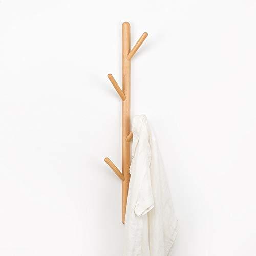 Xujie Artículos para el hogar Colgador for Colgar de la Ropa de Madera Maciza con Forma de árbol, Colgante, tamaño: 75x3cm, Haya Artículos para el hogar