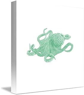 Wall Art Print Entitled Deep Ocean Animals - Octopus 4D by Celestial Images   8 x 8