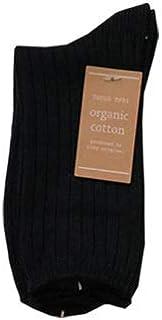 オーガニック cotton レディースソックス 22-25cm (ブラック)