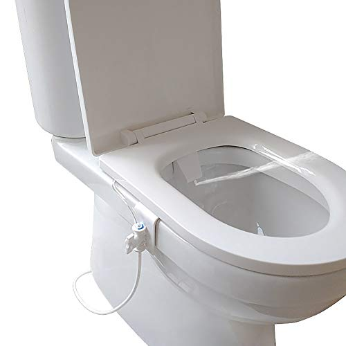 UKSAT Flushing Sanitary Device,Bathroom Smart Toilet Seat Bidet...