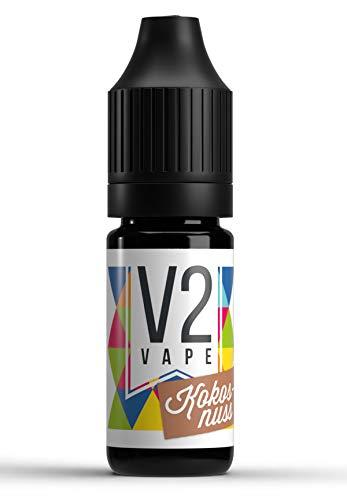 V2 Vape Kokosnuss AROMA / KONZENTRAT hochdosiertes Premium Lebensmittel-Aroma zum selber mischen von E-Liquid / Liquid-Base für E-Zigarette und E-Shisha 10ml 0mg nikotinfrei