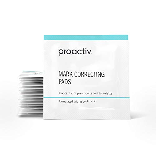 Proactiv Mark Correcting Glycolic Acid Pads - Exfoliating Face Pads With Salicylic Acid Toner For Sensitive Skin, Oily Skin, Acne Blemishes And Marks - With Green Tea Extract and Witch Hazel, 15 ct