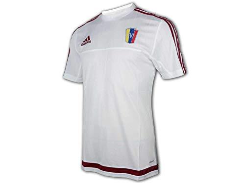 adidas Venezuela - Camiseta de fútbol (talla L), color blanco