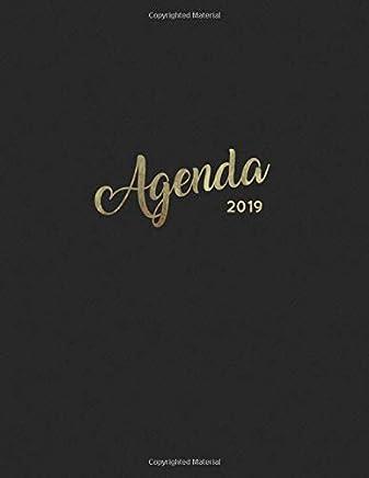 Agenda 2019: Semanal Diario Organizador Calendario | Negro y Oro (Agenda Español) (