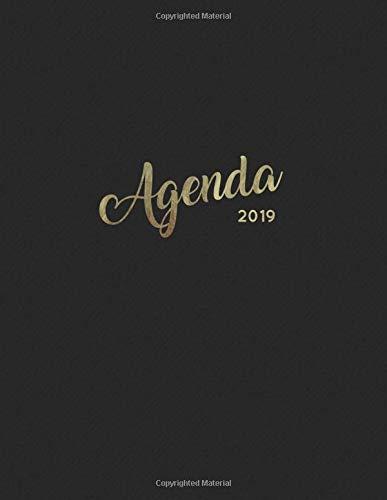 Agenda 2019: Semanal Diario Organizador Calendario - Negro Y Oro