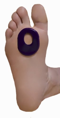 Oval Callus Foot Cushion Pad, Reusable Self-Sticking On Foot Gel, 1...