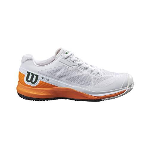Wilson Damen Tennisschuhe, RUSH PRO 3.5 Clay PARIS W, Weiß/Orange/Schwarz, 46 2/3, Für Sandplatz, Alle Spielertypen, WRS327840E040
