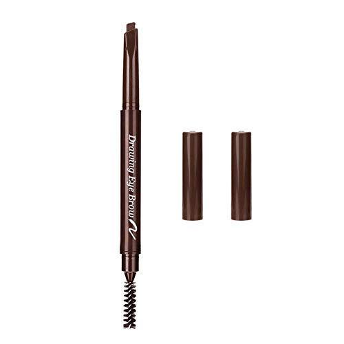 Lápiz de cejas automático, textura sedosa de larga duración impermeable doble ceja pluma para crea cejas de aspecto natural(1)