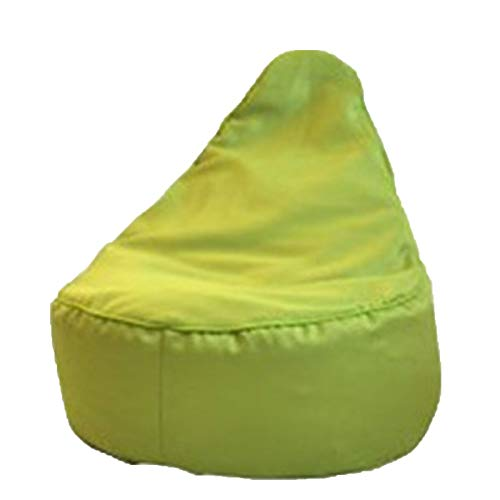 Wsaman En Forma De Pera Sillón Puff Cojín De Meditación, Soporte Lumbar Multifunción Bolsa de Frijol con Relleno de Partículas EPS para Silla Tumbona Perezosa,Verde
