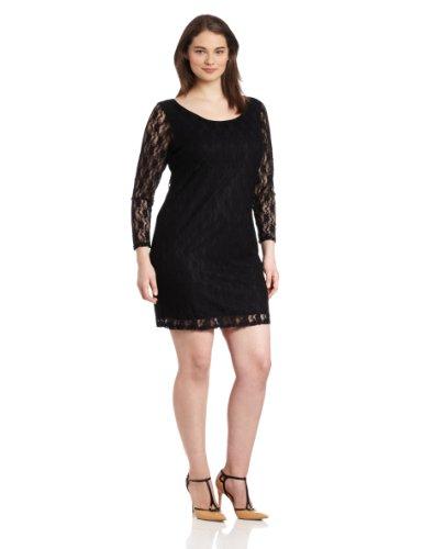 Star Vixen Women's Plus-Size Lace Sheath Dress