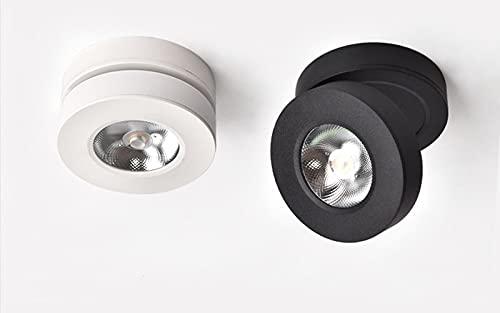 WHEEJE Lámpara de techo downlight montada en superficie del ángulo 360 ultra delgada 5W 7W 10W 12W LED LED de la luz de la mancha AC110 / 220V Luz del techo (Emitting Color : Warm White 3000K)