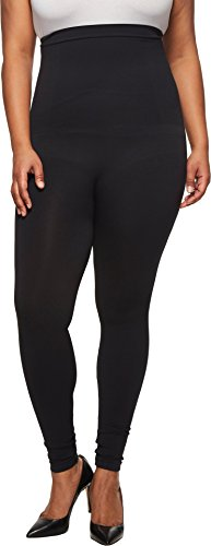SPANX Plus Size Look at Me Now High-Waisted Seamless Leggings Very Black 2X