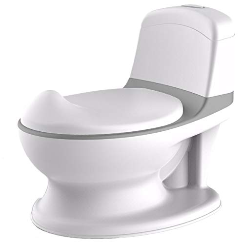 Pote Plus - My First WC Potty (Grey) - Mother & Baby Award Gold Winner 2021 for Best Potty Training Product