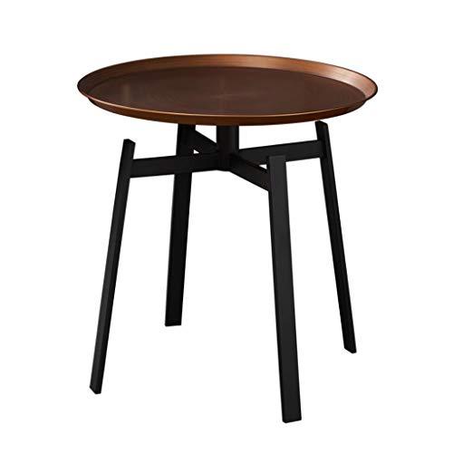 Huahua Furniture Bijzettafel, ronde zijde/lamp/salontafel van ijzer, 50 x 48 x 48 cm