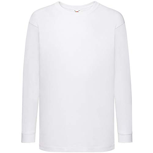 Fruit of the Loom - Camiseta infantil de manga larga Blanco blanco 3-4 Años