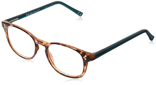 Foster Grant Women's Elodie 1017869-275.COM Round Reading Glasses, Brown Tortoise, 2.75