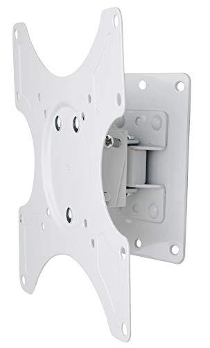 Techly 023875 Supporto a Muro per TV LED LCD 19-37   inclinabile 1 snodo Bianco Bianco