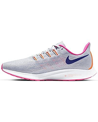 Nike Women's Air Zoom Pegasus 36 Running Shoes Wolf Grey/Regency Purple 8
