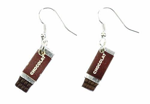 pendientes de chocolate de chocolate Miniblings pendientes de certificado marrón chocolate stock