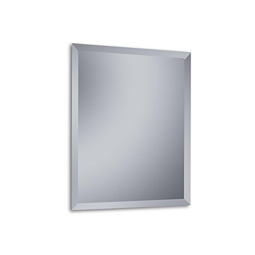 """Kristaled Menorca """"L"""" Bisel 60x80 cm (Colgador Especial focos Pinza) Espejo, Cristal, Plateado, 60x80x3 cm"""