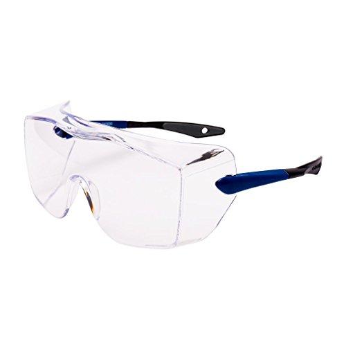 3M OX3000DX Cubregafas montura azul PC recubrimiento DX ocular incoloro patilla recta 1 gafa/bolsa