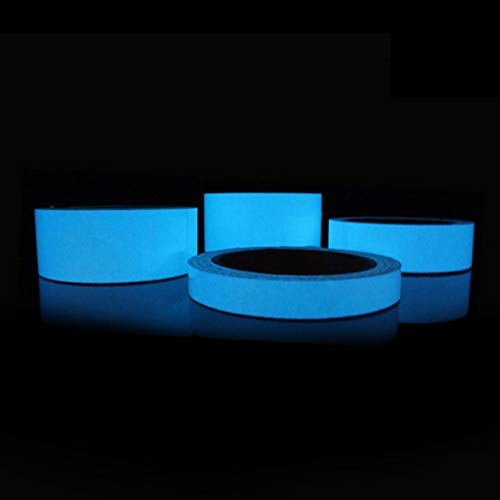 JULXYX Reflexstreifen Fahrrad Reflektierendes Licht Klebeband Selbstklebendes Papier Abnehmbares Licht Emittierendes Klebeband Fluoreszierendes Licht Fahrrad Warnband Reflektor