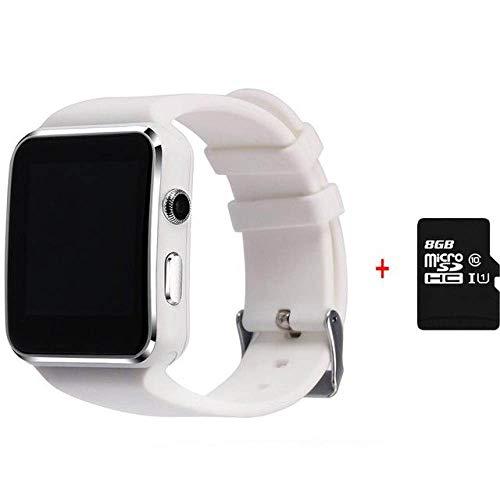 Yuyle Smartwatch Bluetooth Smart Watch Android Melding Synchro Anti-verlies melding smartwatch simkaart TF voor Huawei Xiaomi Samsung, Avec 8 Go
