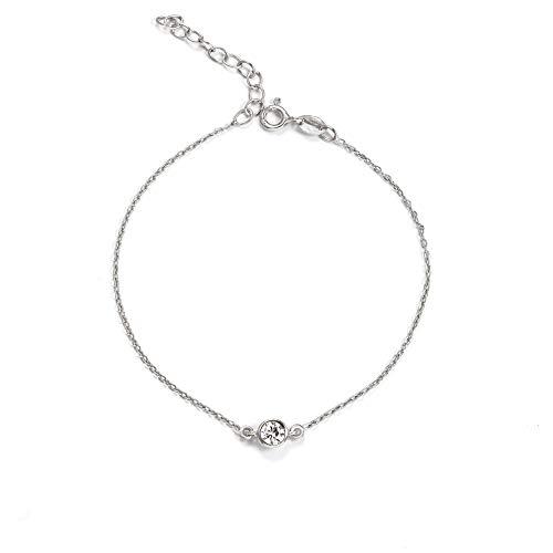 SINGULARU ®Pulsera Diamond Plata para Mujer Plata de Ley 925
