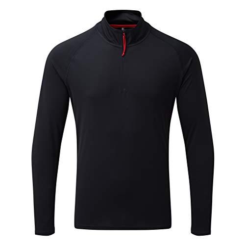 Gill Herren UV Tec Langarm Reißverschluss Hals schnell trocknend Angeln Tee Shirt Marine XXL