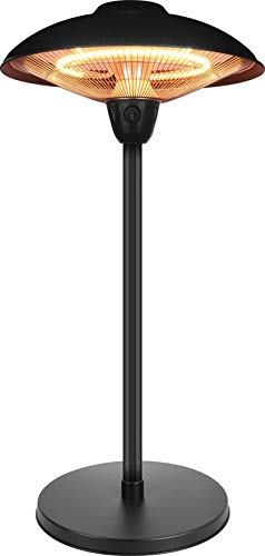 MaxxGarden - Stufa a Fungo a Infrarossi - Patio per Interno Esterno IP55 - 2100 W - 78 cm