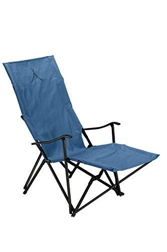 Grand Canyon EL Tovar Lounger - Campingstuhl, Klappstuhl mit Armlehne, hoher Rückenlehne & Fußstütze - bis 100 kg - Aluminium - Dark Blue (blau)