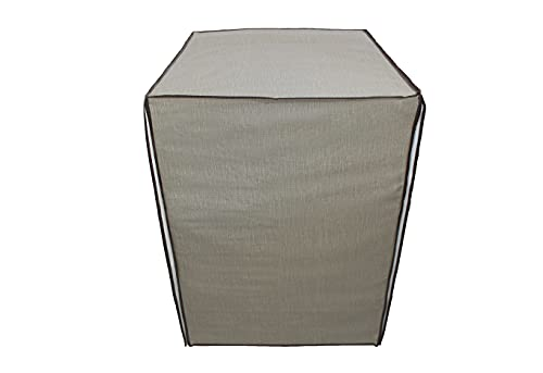 Acomoda Textil - Funda de Lavadora 60x84x60 cm. Funda Impermeable de Carga Frontal, Protectora de Lluvia, Sol y Polvo. (Beige)