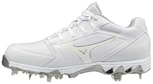 Mizuno 320588.0000.10.0850 9-Spike Swift 6 Low Womens Metal Softball Cleat White (0000) 8 1/2 (0850)