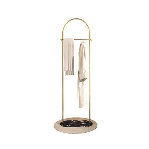 QFF - Perchero de hierro forjado para colgar ropa, tiendas, vitrina, patas pesadas, base de mármol, marco de boda 173*60CM a
