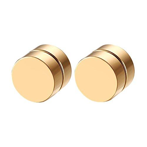 yotijar - Par de pendientes de clip con imán magnético para oreja, unisex, falso regalo,