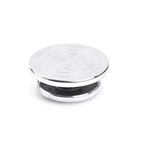 Torno De Alfarero 12/15 cm de doble cara Use la placa giratoria de la aleación de aluminio para la plataforma de cerámica de la plataforma de la escultura de la plataforma de la alfarería de la rueda