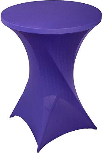 Namvo Stretch Cover für Bistrotische - Stretchy Table Cover mit Einer Gr??e von ca. 70 x 110 cm - Für Feiern und Veranstaltungen im Freien (lila)