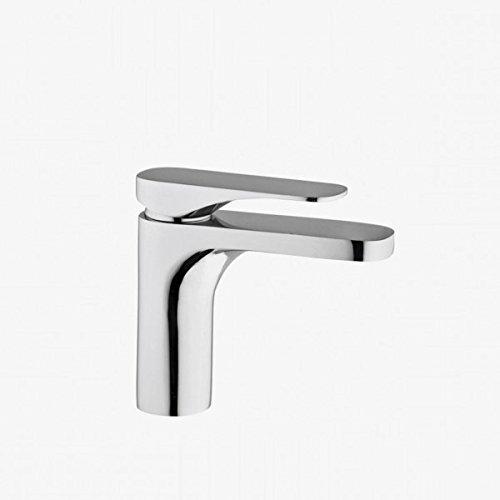 Mix lavabo cromo FIMA Carlo Frattini, quad miscelatore lavabo con scarico con troppopieno modello quad. art. FIM 0042, rubinetto in ottone cromato con inclusa piletta di scarico 1'1/4 con troppopieno