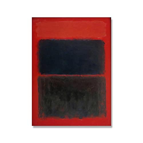 Mark Rothko abstrakte Farbkunstposter und Druck, Malerei Wandkunstbilder, Leinwandbilder für Raumwohnkultur A2 70x100cm