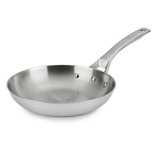 Calphalon accucore Edelstahl Omelette Pfanne, 12Zoll Omelette-Pfanne 8-inch silber