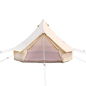 JTYX Tente Camping Cloche Imperméable en Coton avec Trou pour Cheminée 4 Saisons Tente Yourte étanche Bell pour la Famille Camping Chasse en Plein air