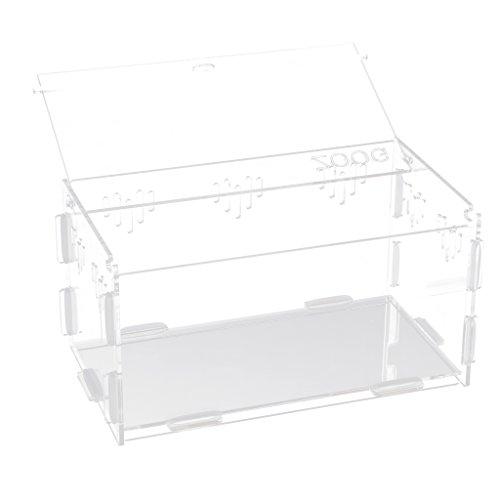 Baoblaze Acryl Terrarium Reptilien Aufzucht Box Kunststoffbox transparent - 21.8x12x11cm