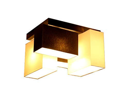 Deckenlampe Deckenleuchte Milano B2/2 MIX Lampe Leuchte Top Design 4 flammig (Creme-Braun)